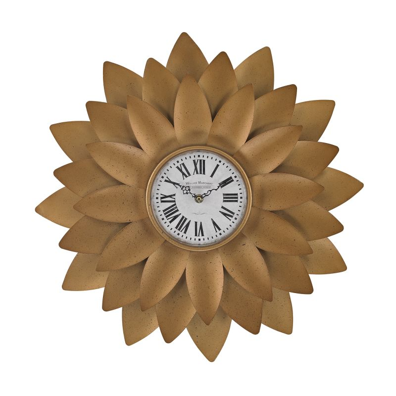 Sterling Industries 171-018 Gold Petal Analog Wall Clock Gold Home