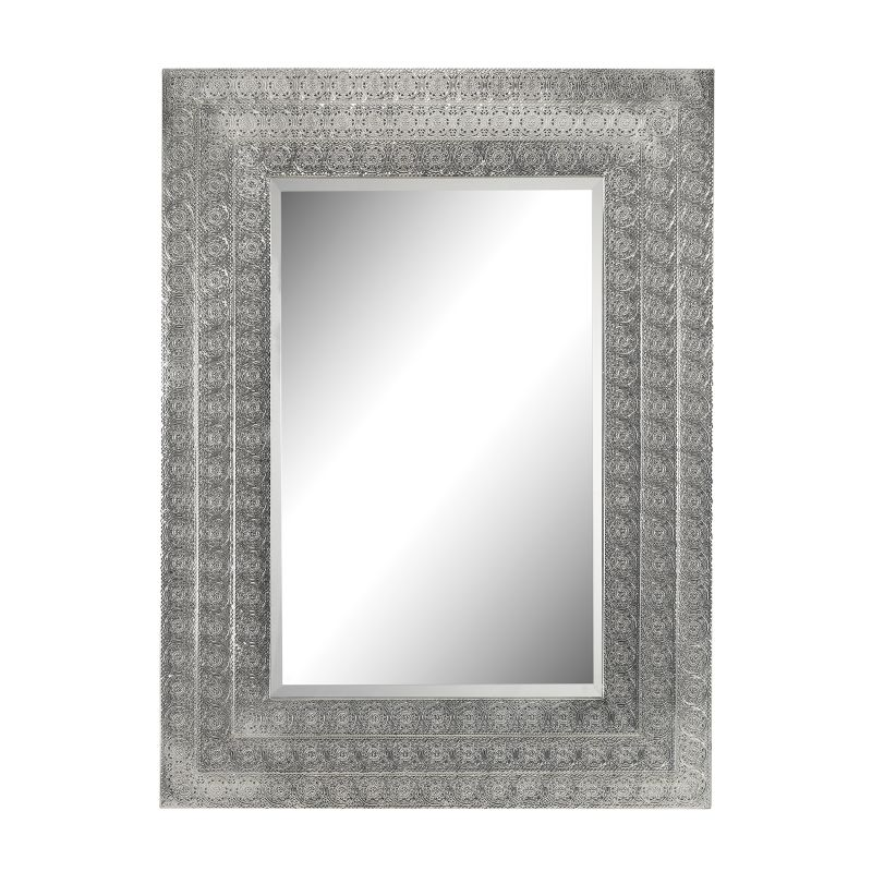 """Sterling Industries 172-002 40"""" x 30"""" Wall Mirror Nickel Home Decor"""