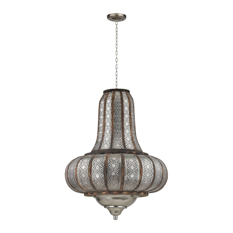 Sterling Industries 172-005 2 Light Large Pendant Nickel / Wood Indoor Sale $558.00 ITEM: bci2679437 ID#:172-005 UPC: 843558130474 :