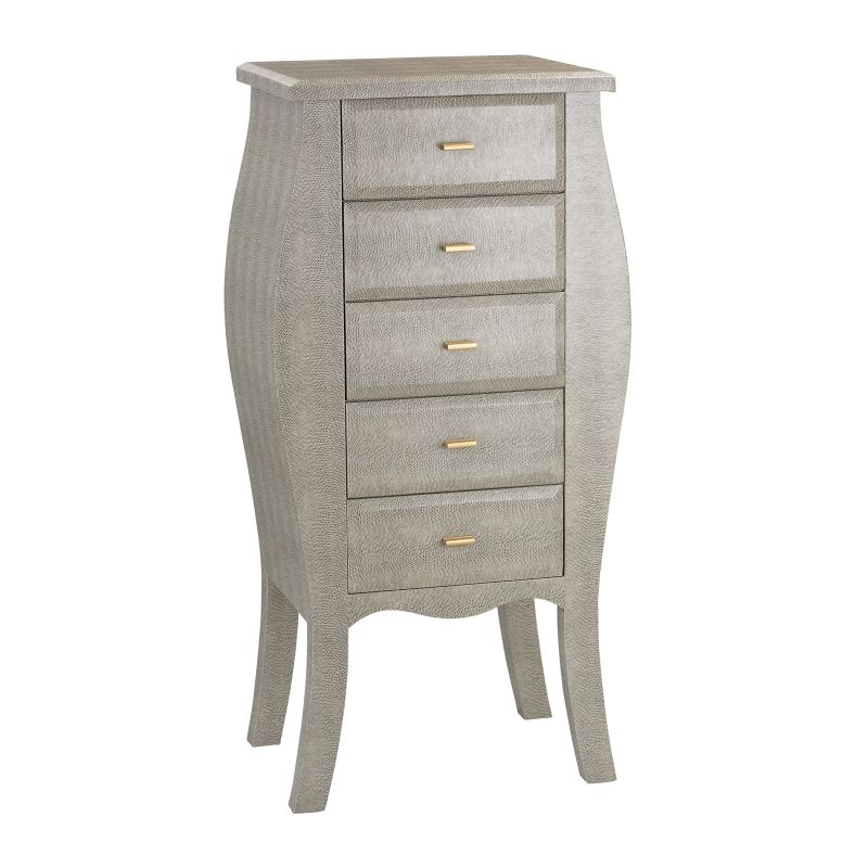 Sterling Industries 180-002 Bowed Shagreen Dresser in Grey Grey