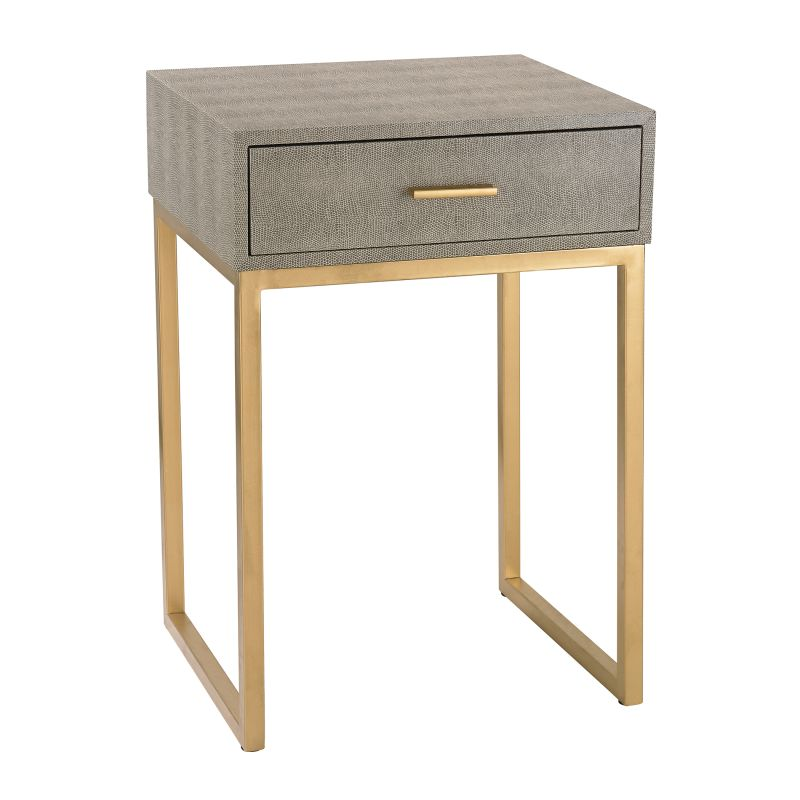 Sterling Industries 180-010 Shagreen Side Table in Grey Grey Furniture