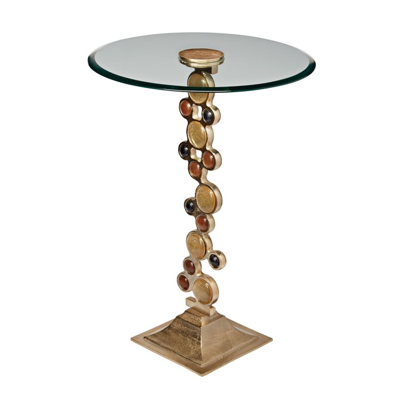 Sterling Industries 468-017 Ruby & Gold Side Table Champagne Furniture