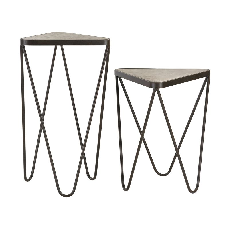 Sterling Industries 51-002/S2 Angular Side Table - Set of Two Antique