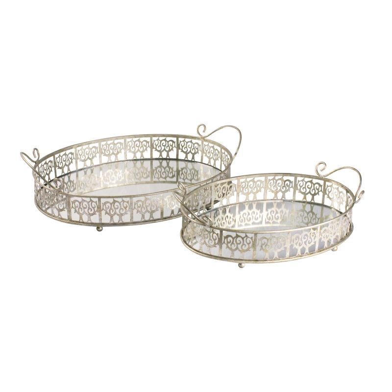 Sterling Industries 51-0148 Sterling Set of 2 Lasko Mirror Trays Sale $148.00 ITEM: bci2275680 ID#:51-0148 UPC: 843558016662 :