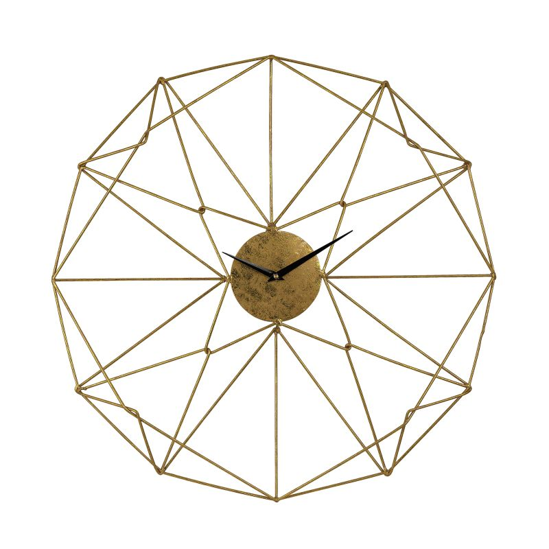 Sterling Industries 51-029 Angular Wirework Analog Wall Clock Gold