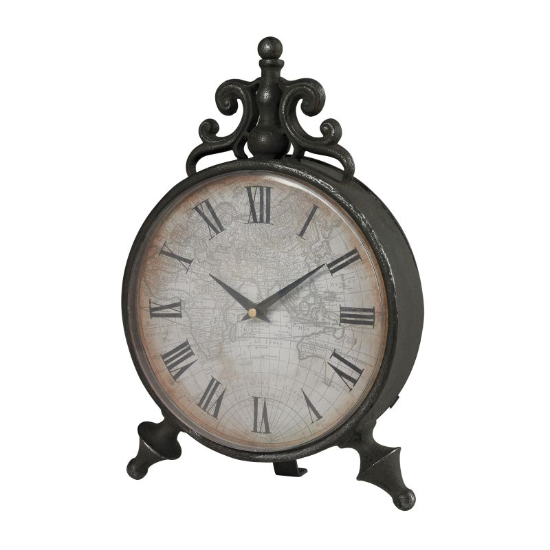 Sterling Industries 51-10099 Arkle Reproduction Metal Desk Clock