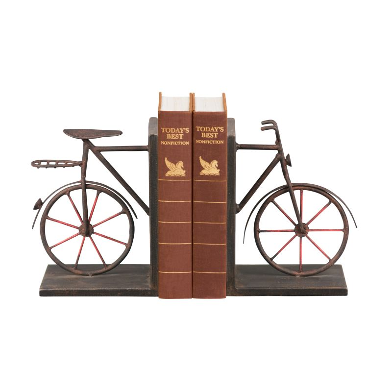 Sterling Industries 51-3857 Sterling Pair Bicycle Bookends Bicycle