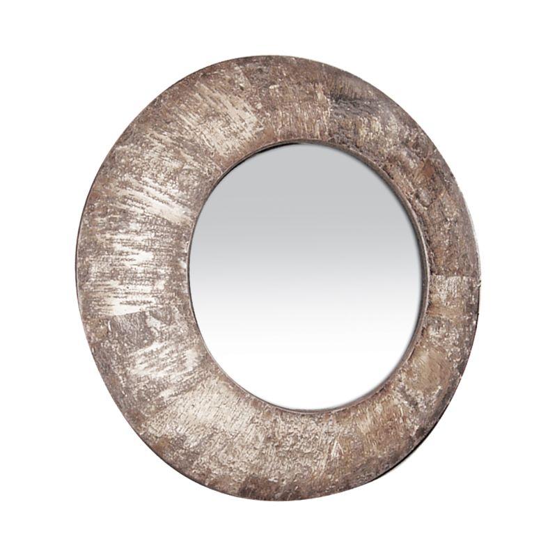 Sterling Industries 53-1160M Birch Bark Circular Mirror Birch Bark