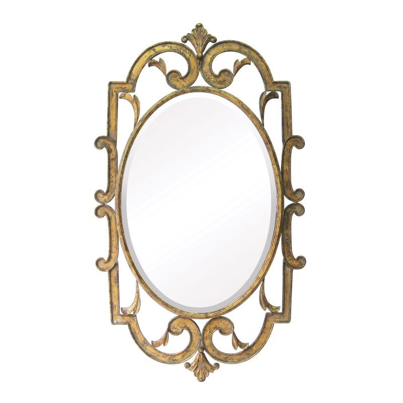 "Sterling Industries 55-214 Woodside 24"" Height Mirror Antique Gold"