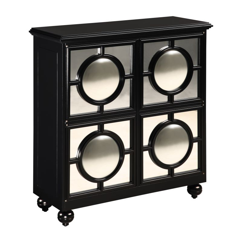 Sterling Industries 6042880 Mirage Cabinet Black Black Furniture
