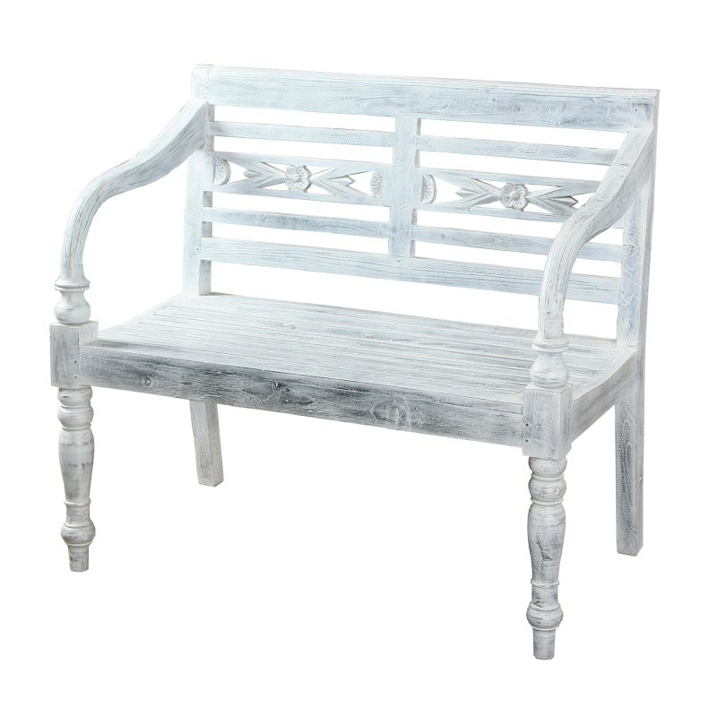Sterling Industries 6500565 Folger Bench Grey Grey Furniture Benches