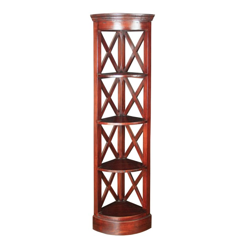 Sterling Industries 6500811 Galloway Corner Shelves Mahogany Furniture