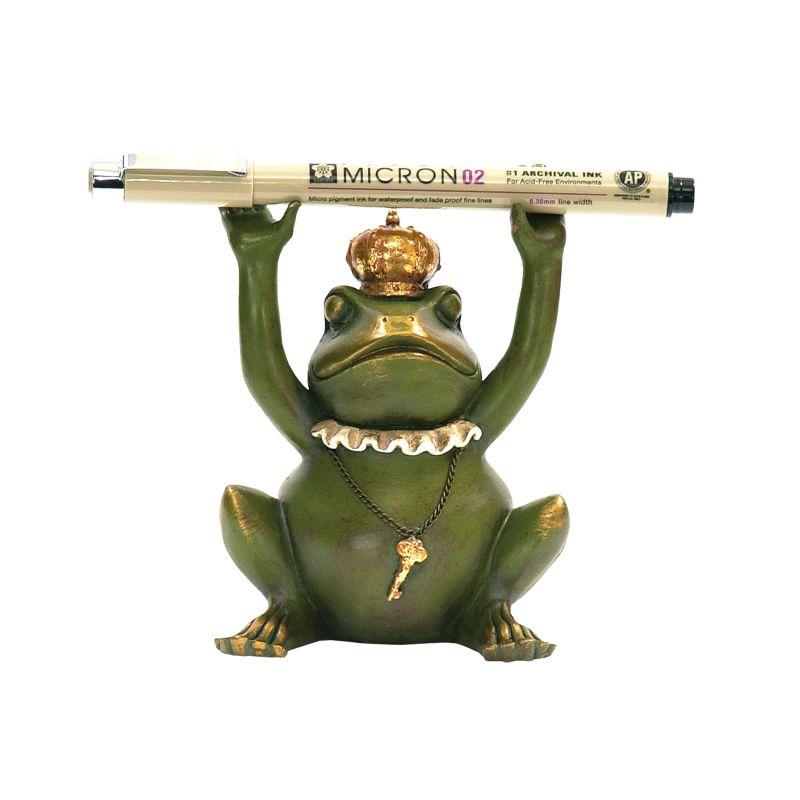 Sterling Industries 7-8198 Superior Frog Gatekeeper Pen Holder Painted