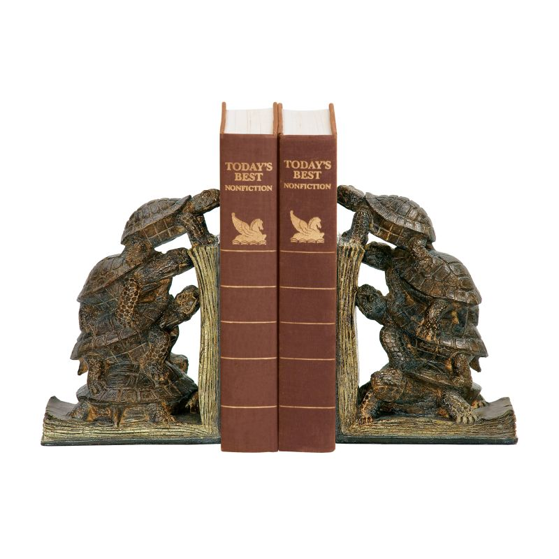 Sterling Industries 91-1938 Pair Turtle Tower Bookends Turtle Home