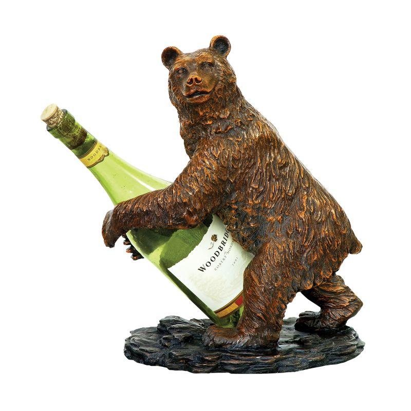 Sterling Industries 91-2119 Bear Wine Holder Bear Home Decor Wine