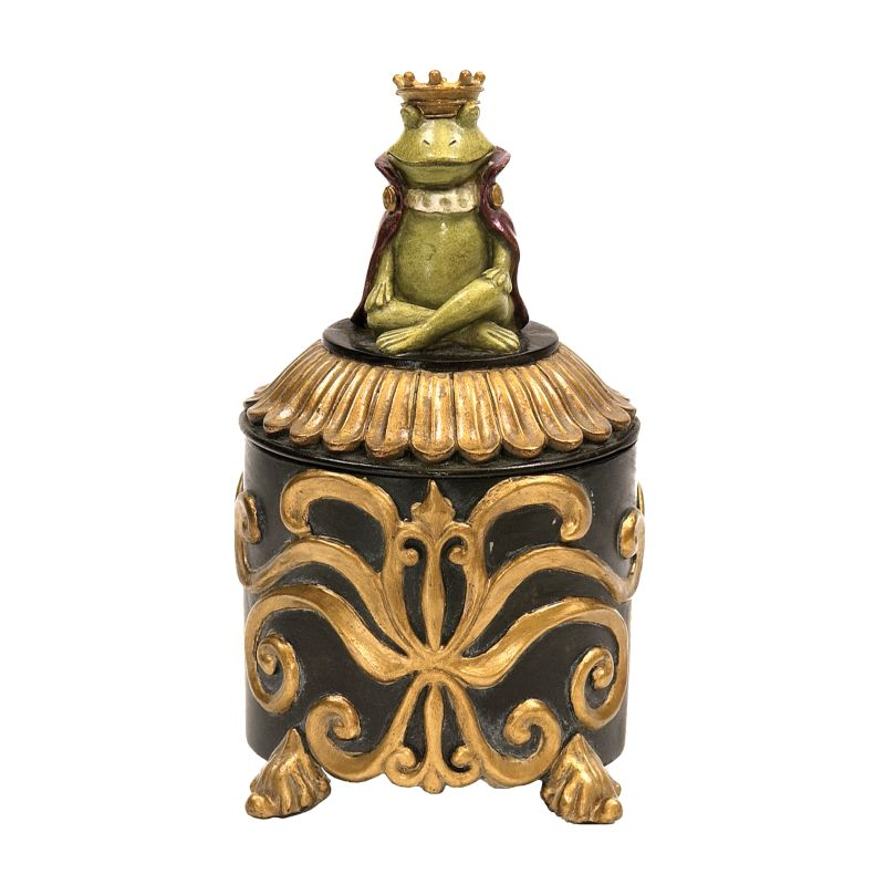 Sterling Industries 91-2565 Prince Frog Vanity Box Frog Home Decor