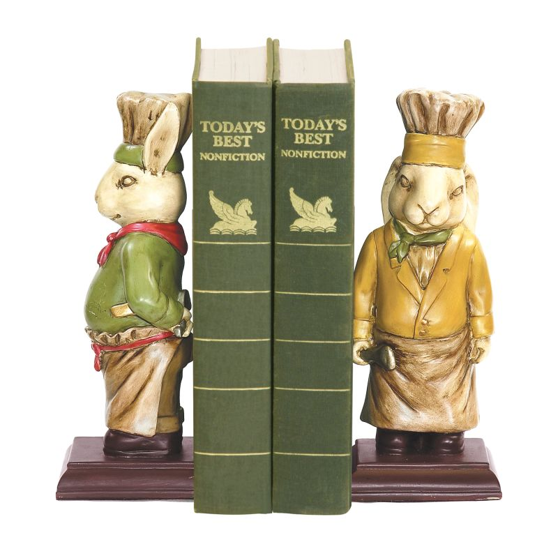 Sterling Industries 91-2799 Sterling Pair of Chef Bunny Bookends Chef