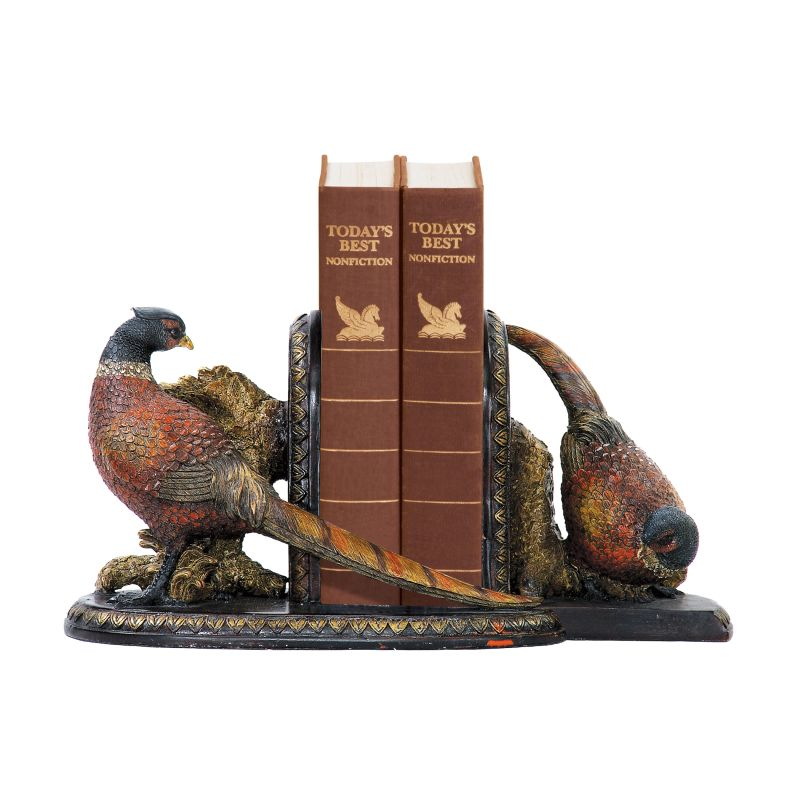 Sterling Industries 91-3722 Sterling Pair of Autumn Pheasants Bookends