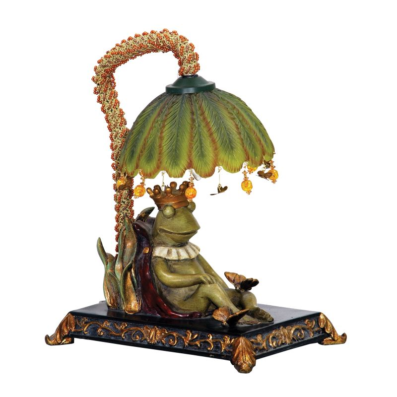 Sterling Industries 91-740 Single Light King Frog Mini Table Lamp with