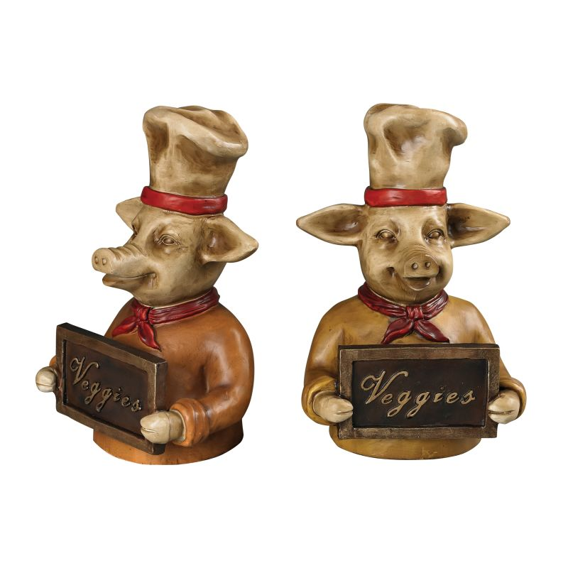Sterling Industries 93-19326/S2 Chef Pig Bookend - Set of Two Penarth
