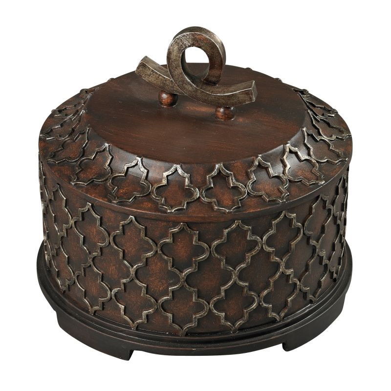 Sterling Industries 93-19342 Moorish Carved Box Whitwel Bronze Home Sale $124.00 ITEM: bci2620153 ID#:93-19342 UPC: 843558081011 :