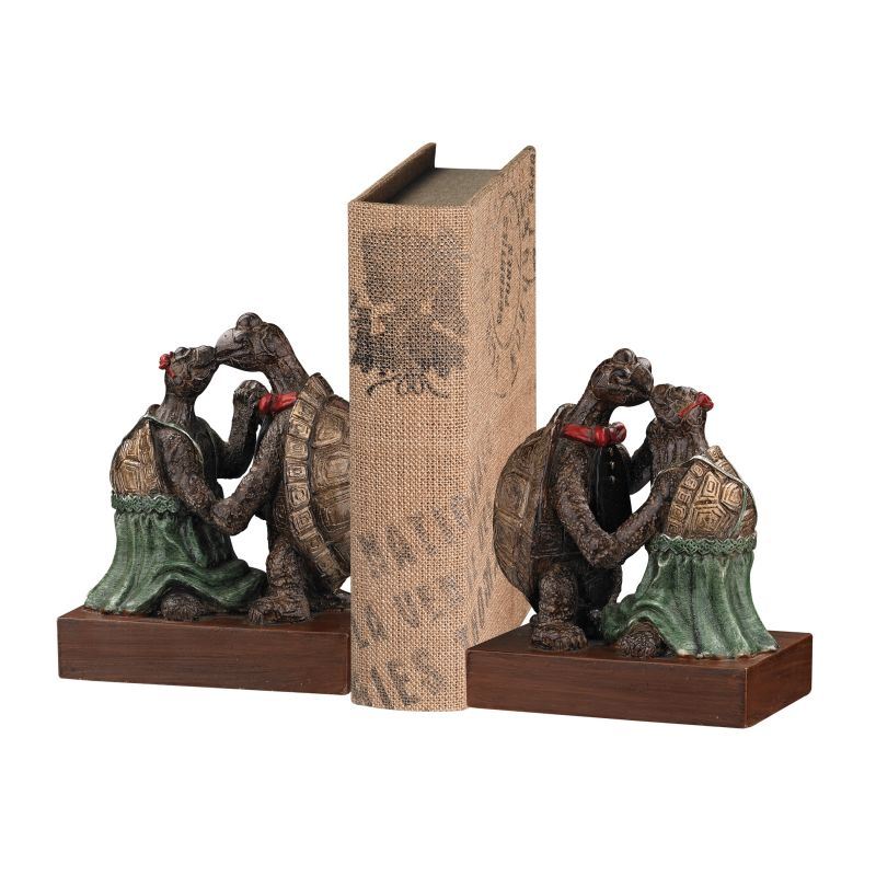 Sterling Industries 93-19364/S2 Kissing Turtle Bookend - Set of Two