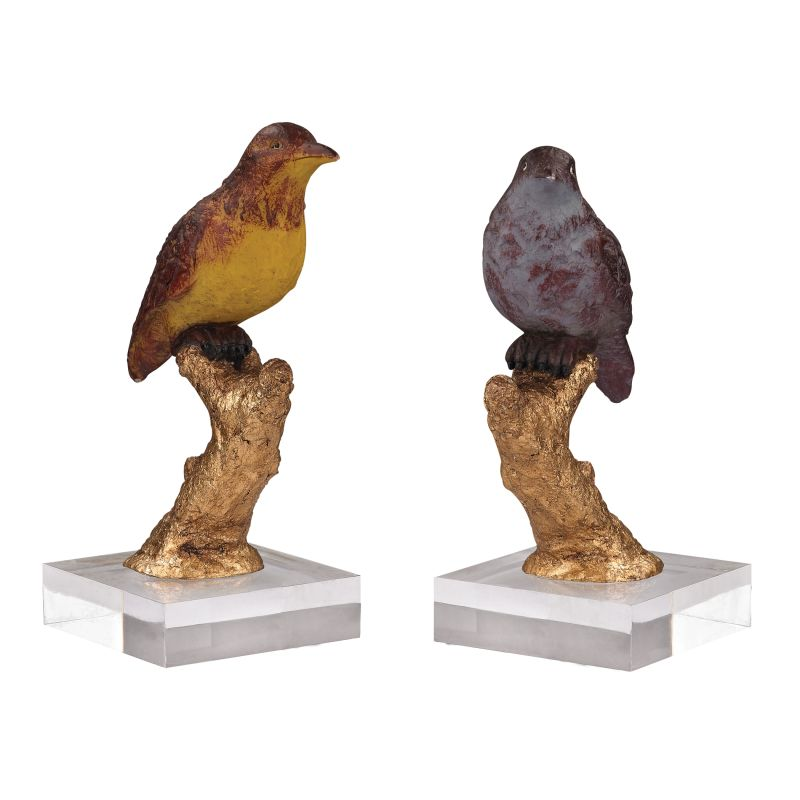 Sterling Industries 93-19383/S2 Birds In Color Figurine - Set of Two