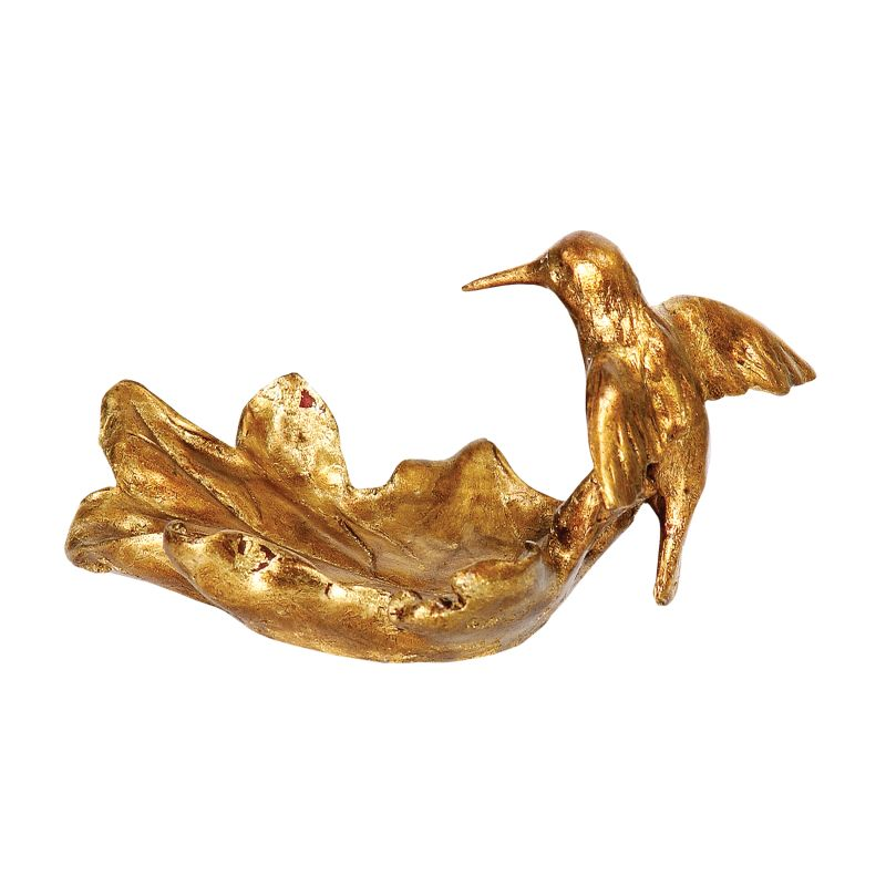 Sterling Industries 93-3046 Sterling Hummingbird Bowl Gold Leaf Home