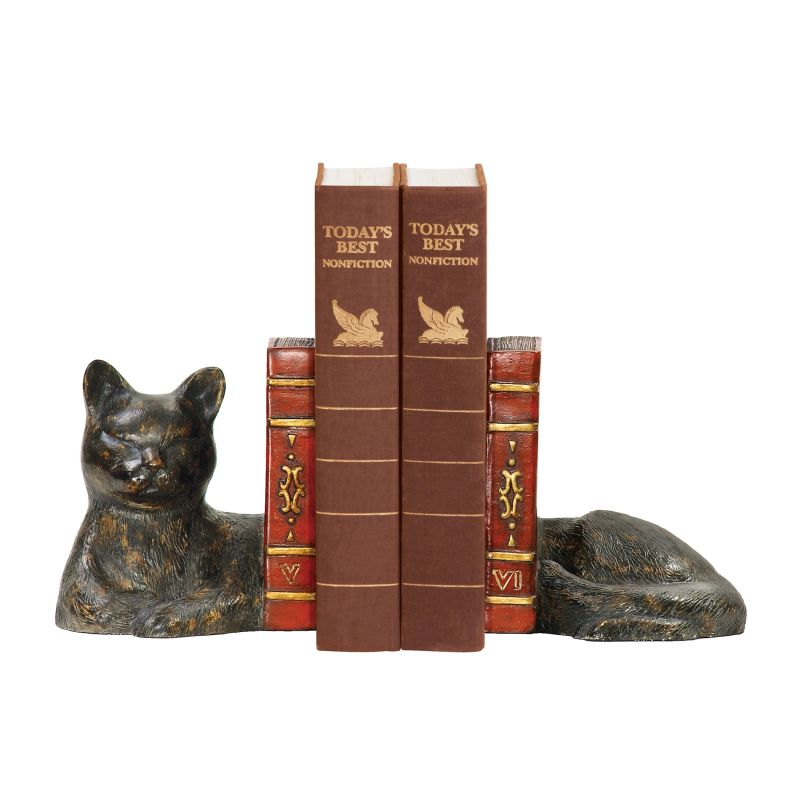 Sterling Industries 93-5083 Pair Cat Napping Bookends Cat Pair Home