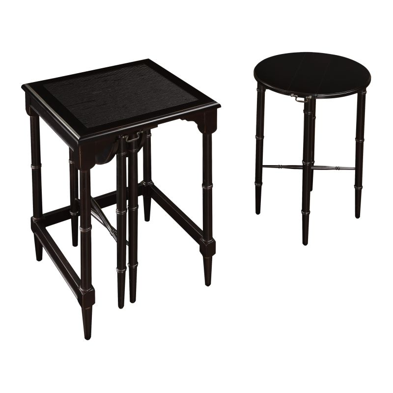 "Sterling Industries 6003205 24"" Height Melbourne Nesting Tables Ebony"
