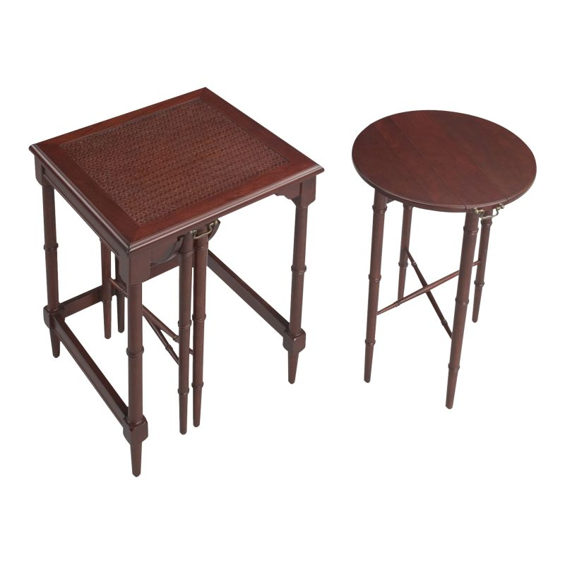 "Sterling Industries 6003218 24"" Height Mindoro Nesting Tables Ebony"