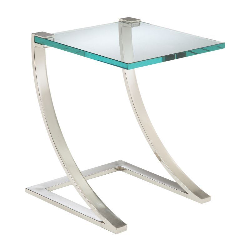 """Sterling Industries 6040947 20"""" Height Uptown End Table Polished"""