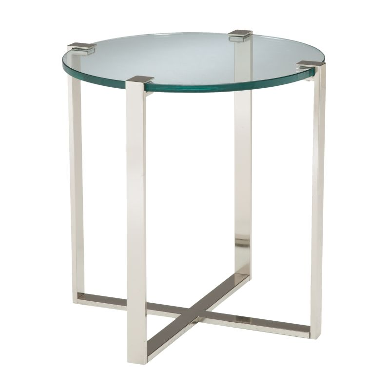 """Sterling Industries 6041031 25.5"""" Height Uptown Side Table Polished"""