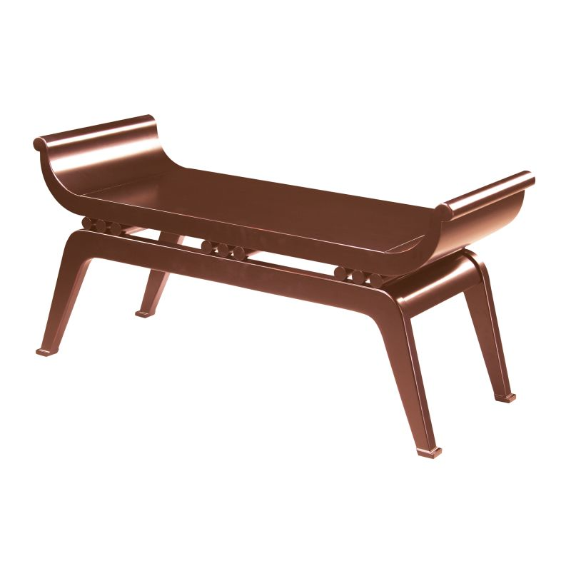 "Sterling Industries 6041092 19.75"" Height Dynasty Bench Cherry"