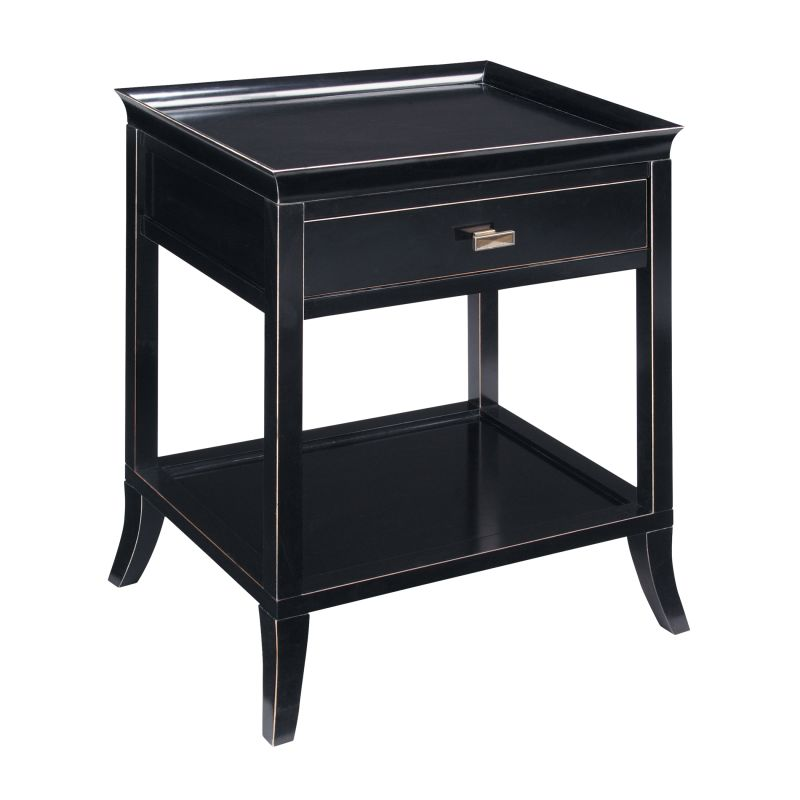 "Sterling Industries 6041153 29.125"" Height Tamara Ebony Side Table"