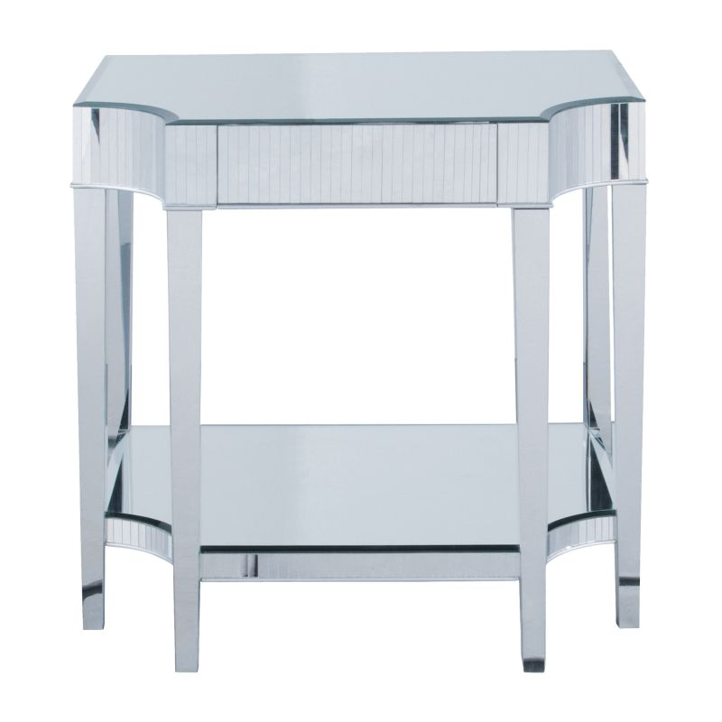 "Sterling Industries 6041162 28"" Height Cinema Mirrored Side Table"