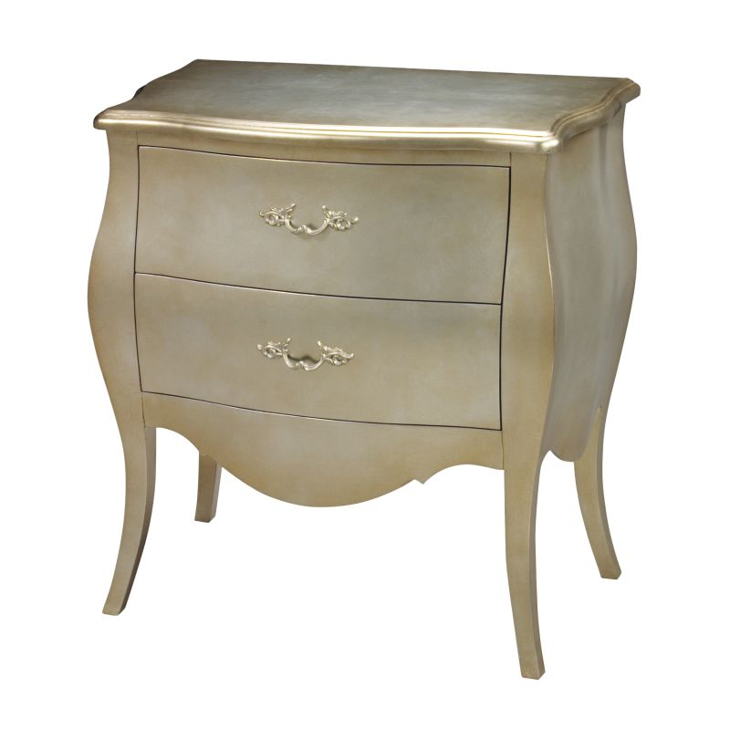"""Sterling Industries 6041450 30"""" Height Romana Bowfront Chest Silver"""