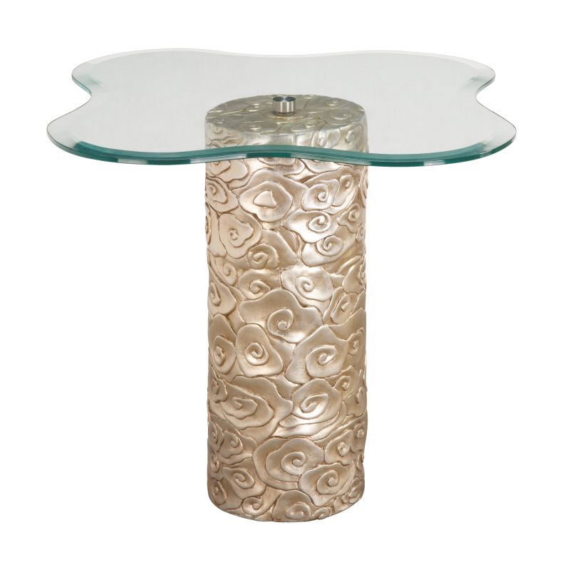 """Sterling Industries 6041787 23"""" Height Mini Accent Table Silver Leaf"""