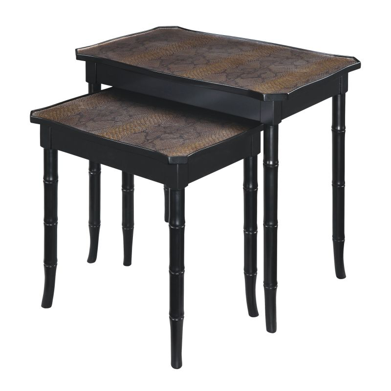 "Sterling Industries 6042074 22.75"" Height Boa Nesting Tables Faux"