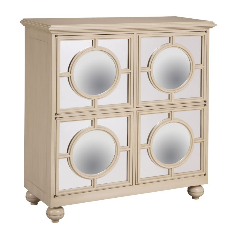 "Sterling Industries 6042341 39"" Height Mirage Cabinet Ivory Furniture"