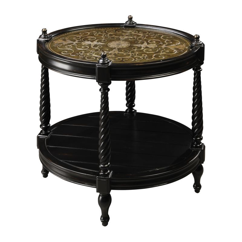 "Sterling Industries 6043437 25.25"" Height Caswell Accent Table Ebony"