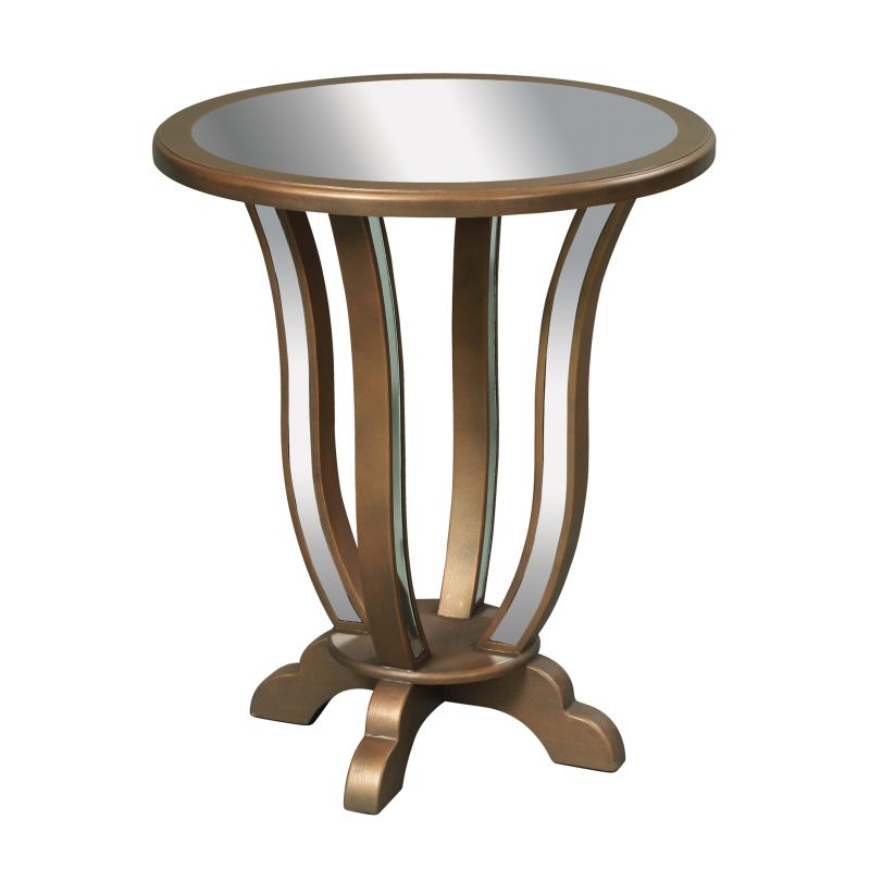 """Sterling Industries 6043621 28"""" Height Manama End Table Antique Gold"""