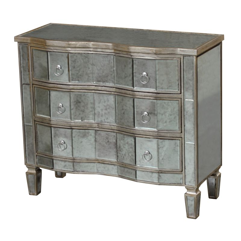 "Sterling Industries 6043629 33"" Height Mirrored Torino Chest Mirrored"