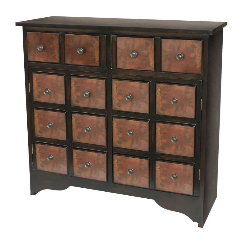 Sterling Industries 6043634 30&quote Height Rubbed Red Trevi Chest Rubbed