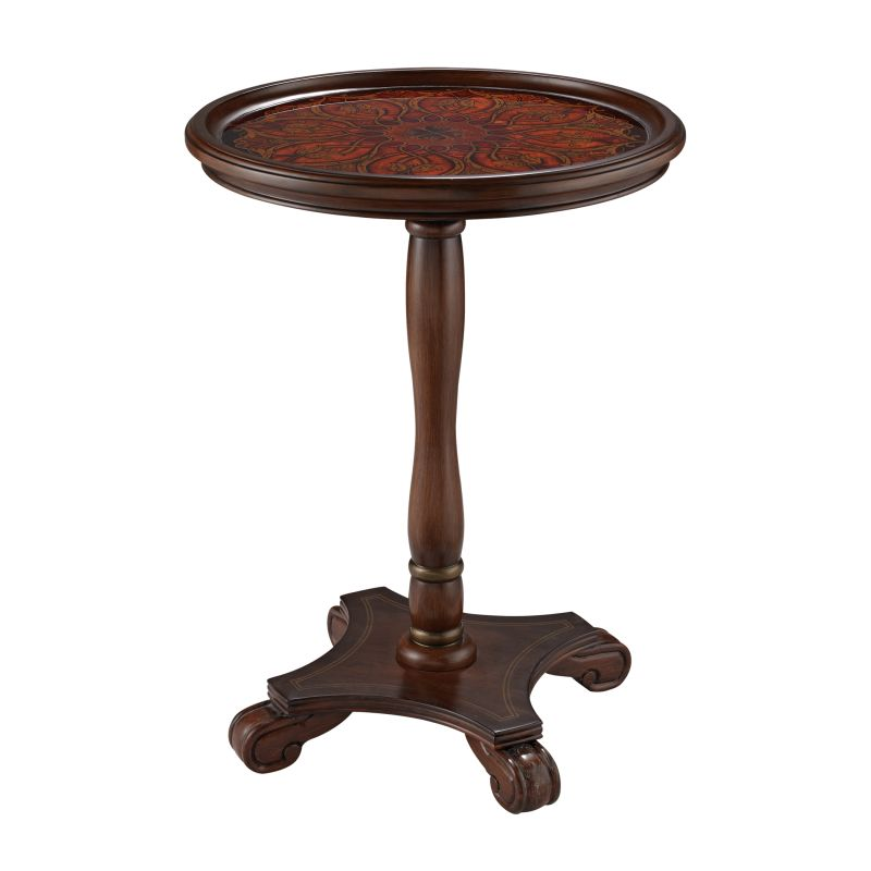 "Sterling Industries 6043670 24"" Height Cerulean Mahogany Pedestal"