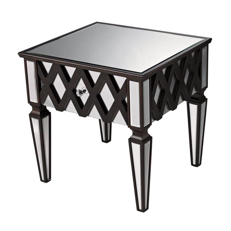 "Sterling Industries 6043676 21"" Height London Mirrored Side Table"