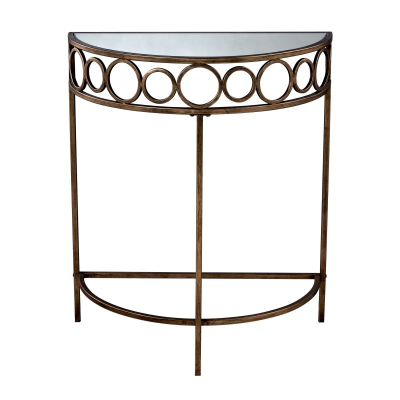 """Sterling Industries 6043701 35"""" Height Violeto Side Table Antique Gold"""