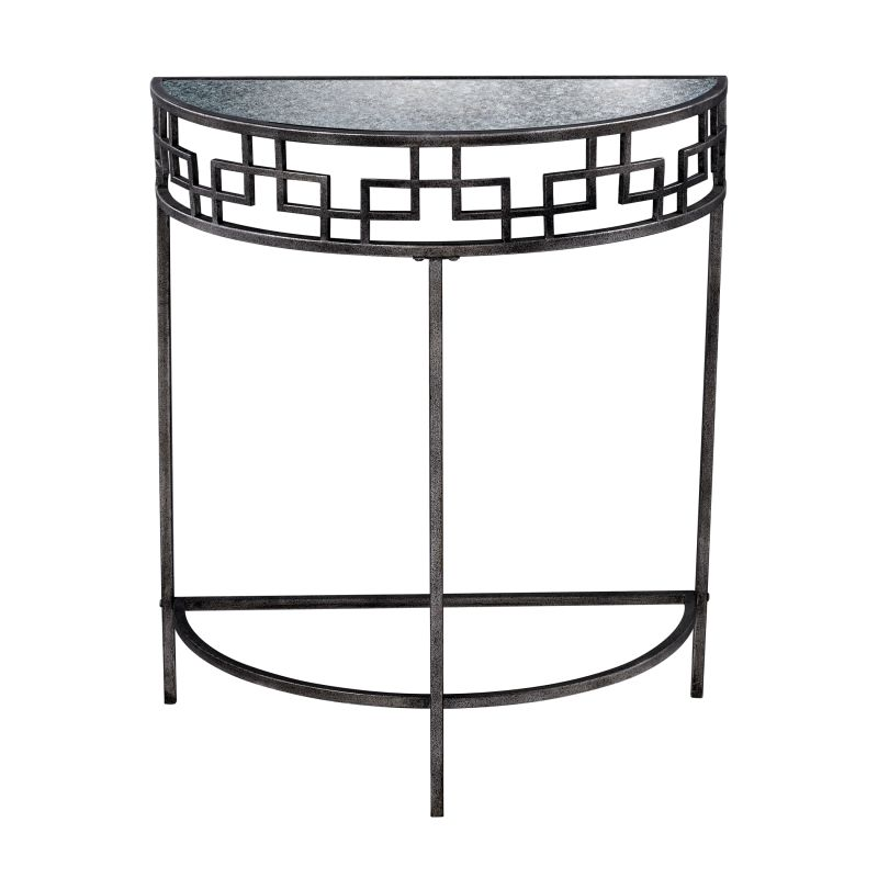 "Sterling Industries 6043729 35"" Height Pescia Side Table Silver"