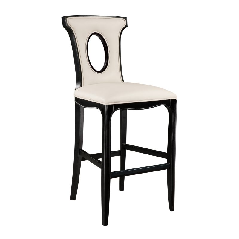 "Sterling Industries 6070930 46.75"" Height Alexis Bar Stool Ivory"