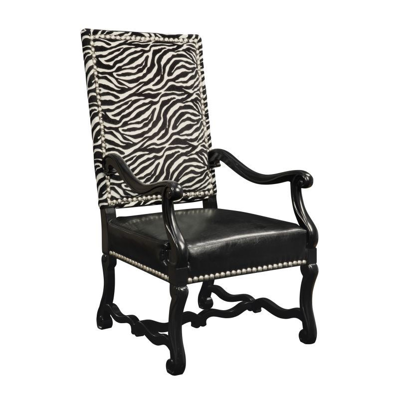 "Sterling Industries 6071058 46.25"" Height Wallace Accent Chair Ebony"